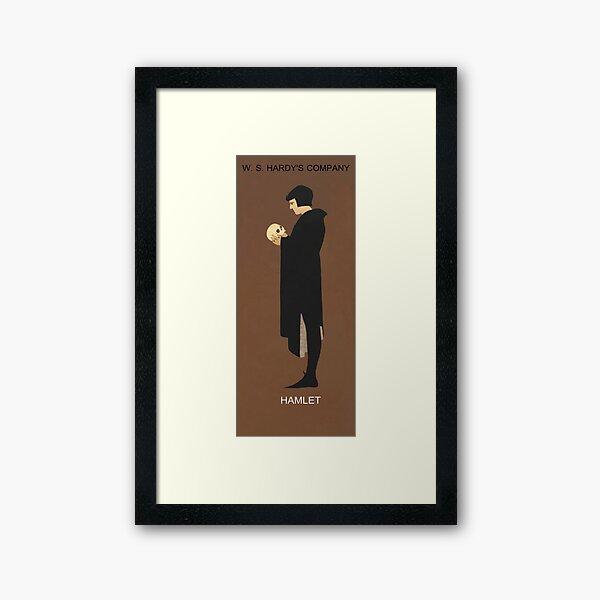 Recreation of Hamlet, vintage poster  Framed Art Print