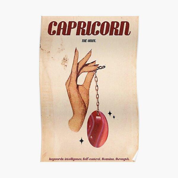 Capricorn Zodiac Poster Poster