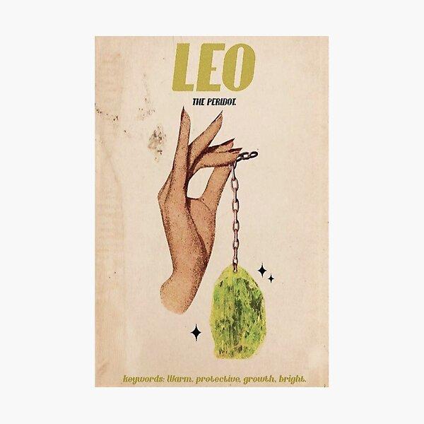 Leo Zodiac Poster Photographic Print