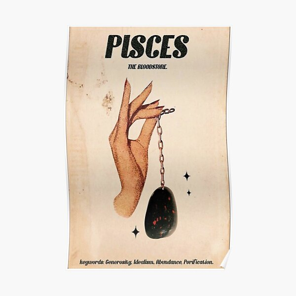 Pisces Zodiac Poster Poster