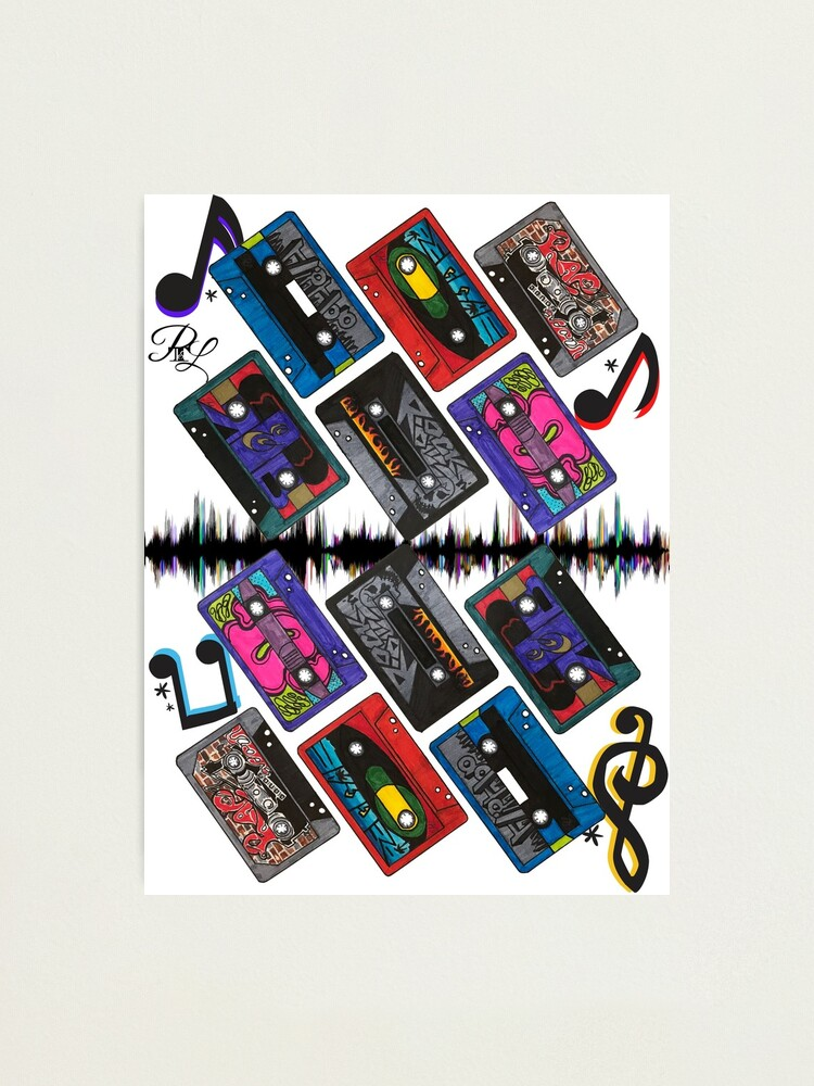 Alternate view of The Cassette Tapes Music  Photographic Print