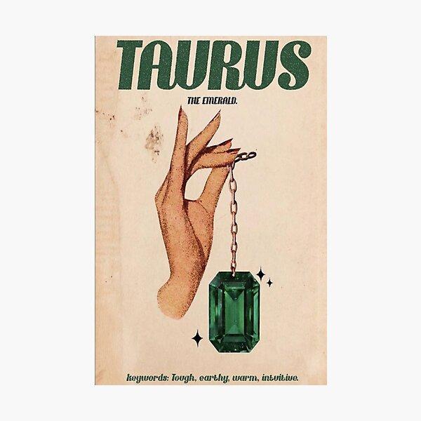 Taurus Zodiac Poster Photographic Print