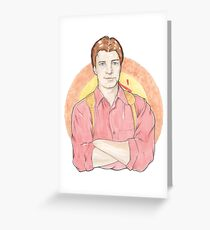 Watercolour Fanart Illustration of Malcolm 'Mal' Reynolds from Joss Whedon's Firefly Greeting Card