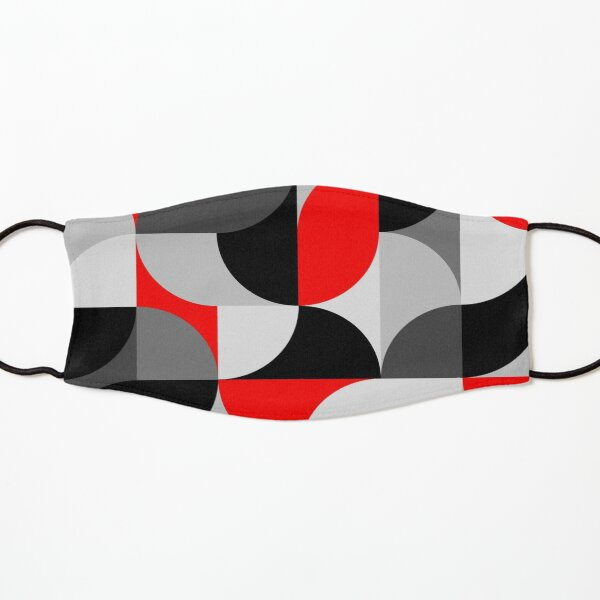 Arcs Pattern Red Black Grey Kids Mask