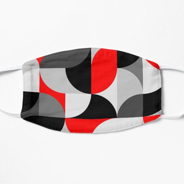 Arcs Pattern Red Black Grey Flat Mask
