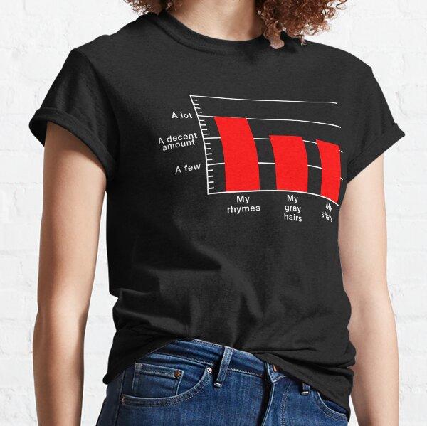 Rhymes to Gray Hairs Bar Graph Classic T-Shirt