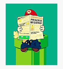 pooping Mario Photographic Print