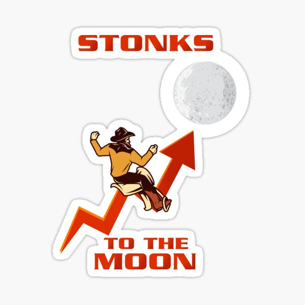To the moon Sticker