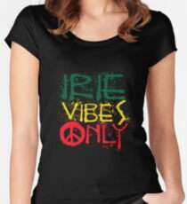 IRIE VIBES ONLY-003 Tailliertes Rundhals-Shirt
