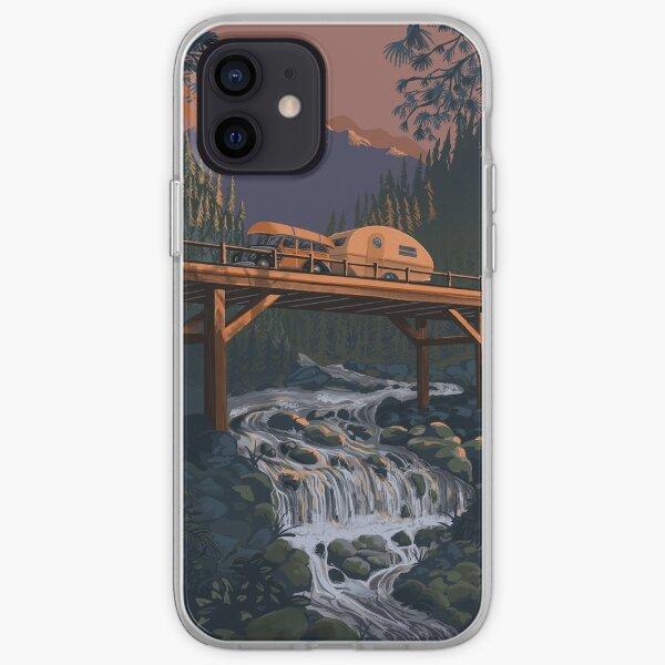 Vintage Travel Camper on Bridge iPhone Soft Case
