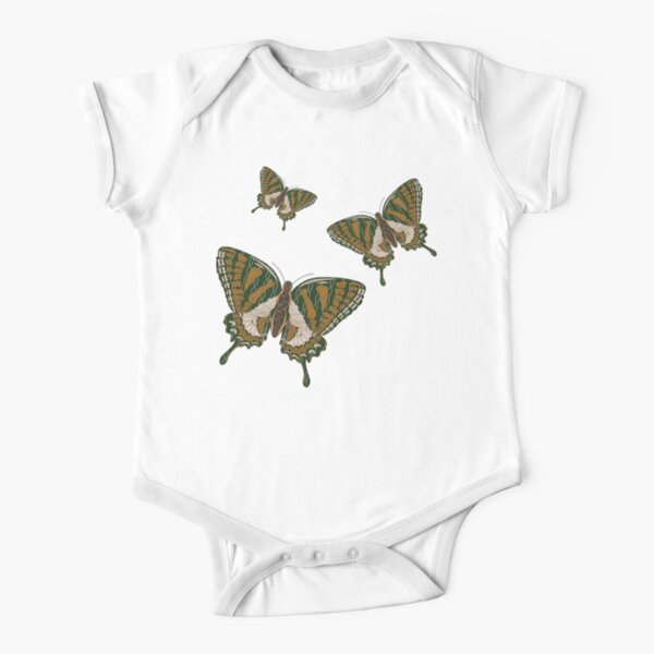 Aboriginal Swallowtail Short Sleeve Baby One-Piece