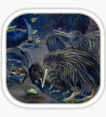 Kiwi, Bats, Morepork and More Sticker