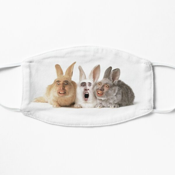 Cage Bunnies Flat Mask