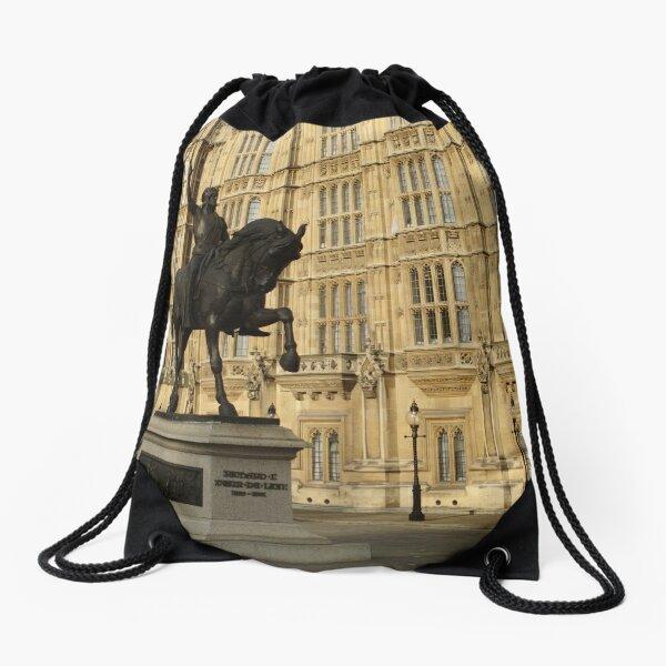 Richard The Lionheart At Westminster Drawstring Bag