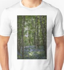 painting style image of bluebell wood in spring T-Shirt