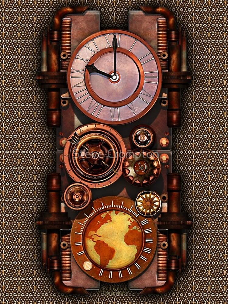 Infernal Vintage Steampunk Timepiece phone cases by SC001
