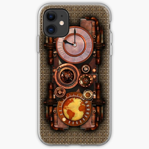 Infernal Vintage Steampunk Timepiece phone cases iPhone Soft Case