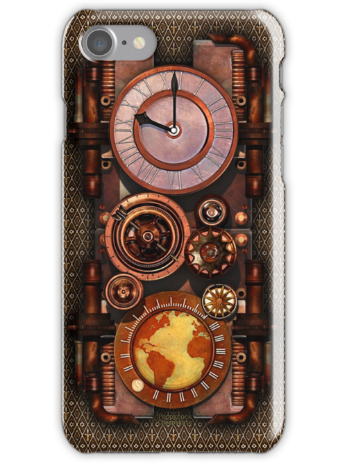 Infernal Vintage Steampunk Timepiece phone cases by Steve Crompton
