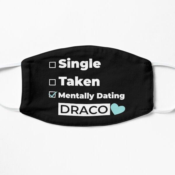 Mentally Dating DRACO new trending cute heart check box valentine pattern design 2021 Flat Mask