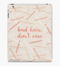 messy hair day iPad Case/Skin