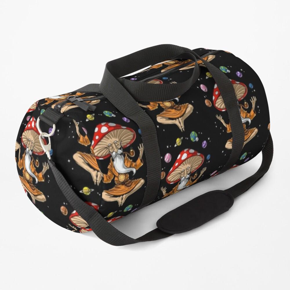 Magic Mushroom Buddha Duffle Bag