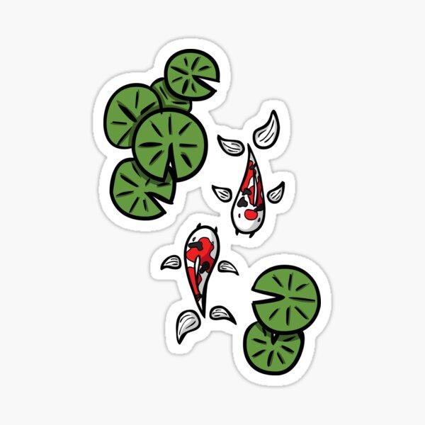 Fuku and Heiwa the Koi Sticker