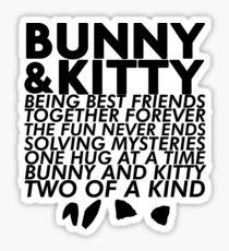 Bunny & Kitty Sticker