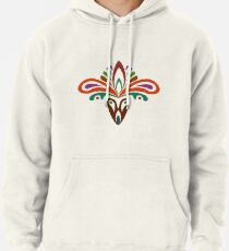 3536f38d7bfc62 Abstract tribal damask pattern Pullover Hoodie