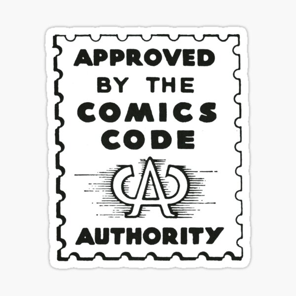 Comics Code Authority Sticker