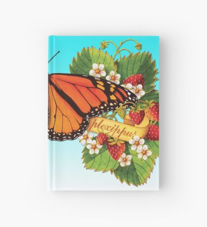 Monarch Butterfly with Strawberries Hardcover Journal