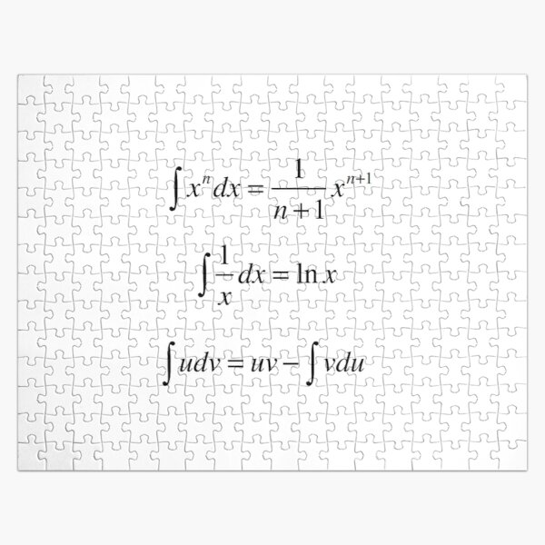 Mathematics, #Integrals, #math, #calculus, #mathematics, Integral, natural, logarithm, naturalLogarithm, exponent Physics Jigsaw Puzzle