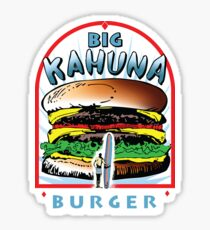 "Big ""KAHUNA"" Burger - White Back Variant Sticker"
