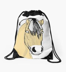 Linear fjord  Drawstring Bag