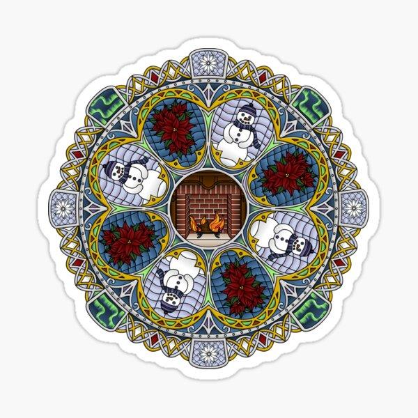 Winter Nouveau Sticker