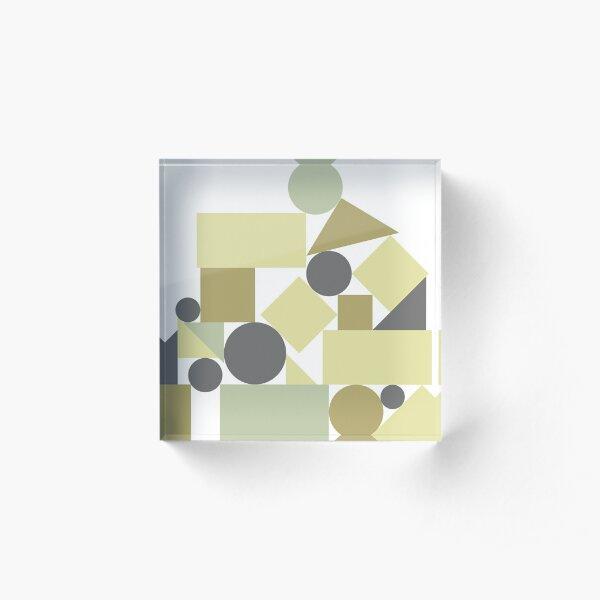 The balance of geometries Acrylic Block