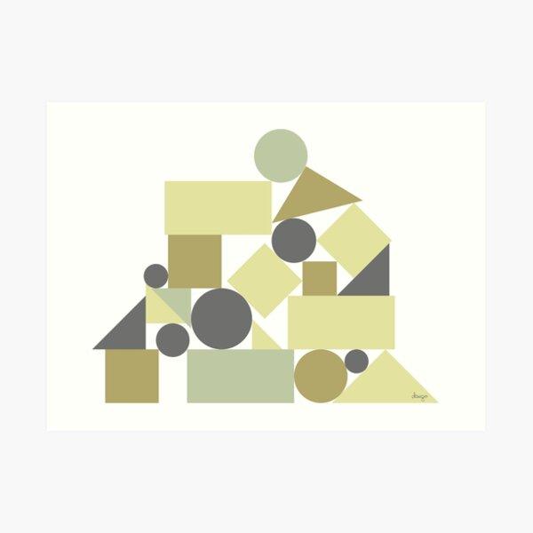 The balance of geometries Art Print