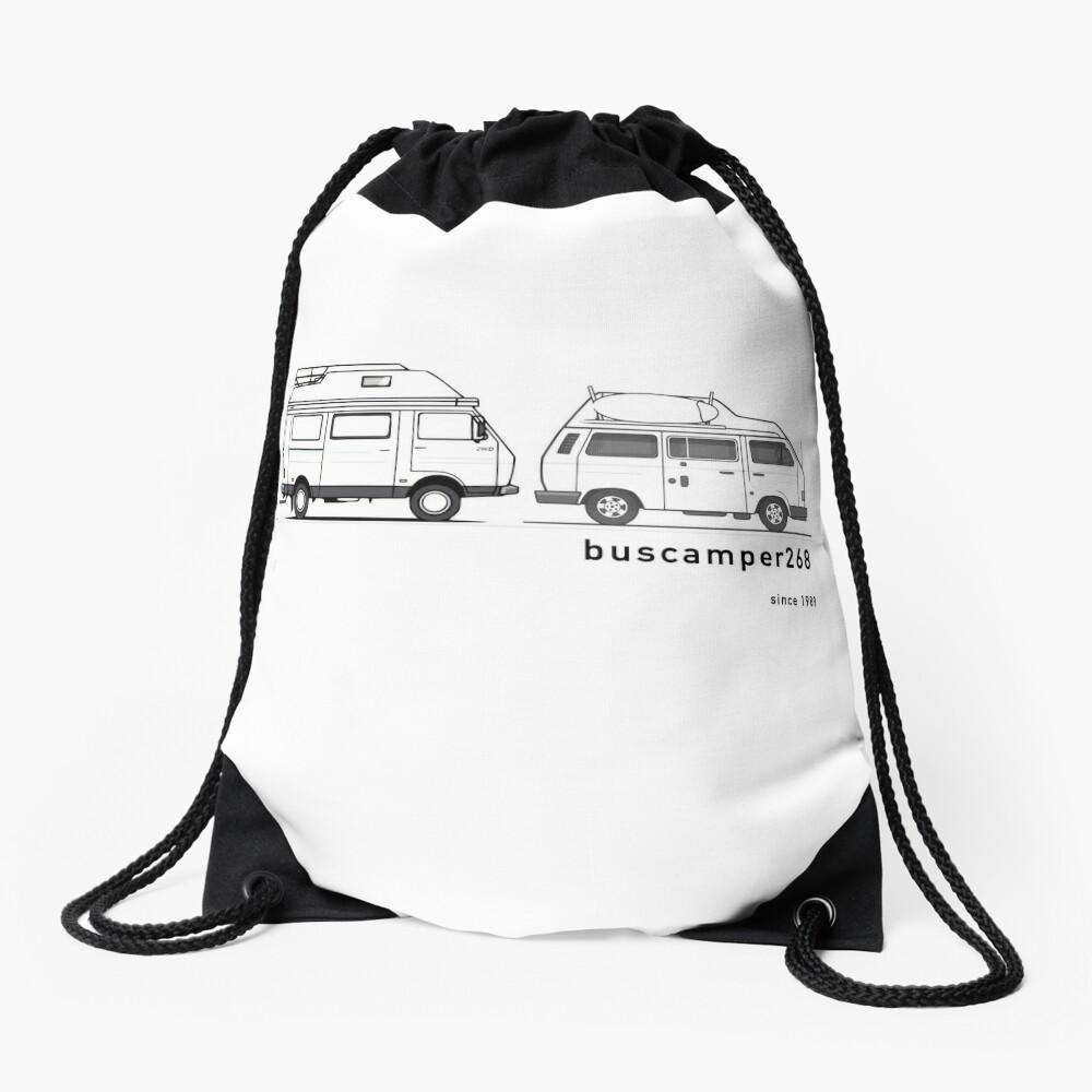 Hightop Campervans II - buscamper268 Drawstring Bag