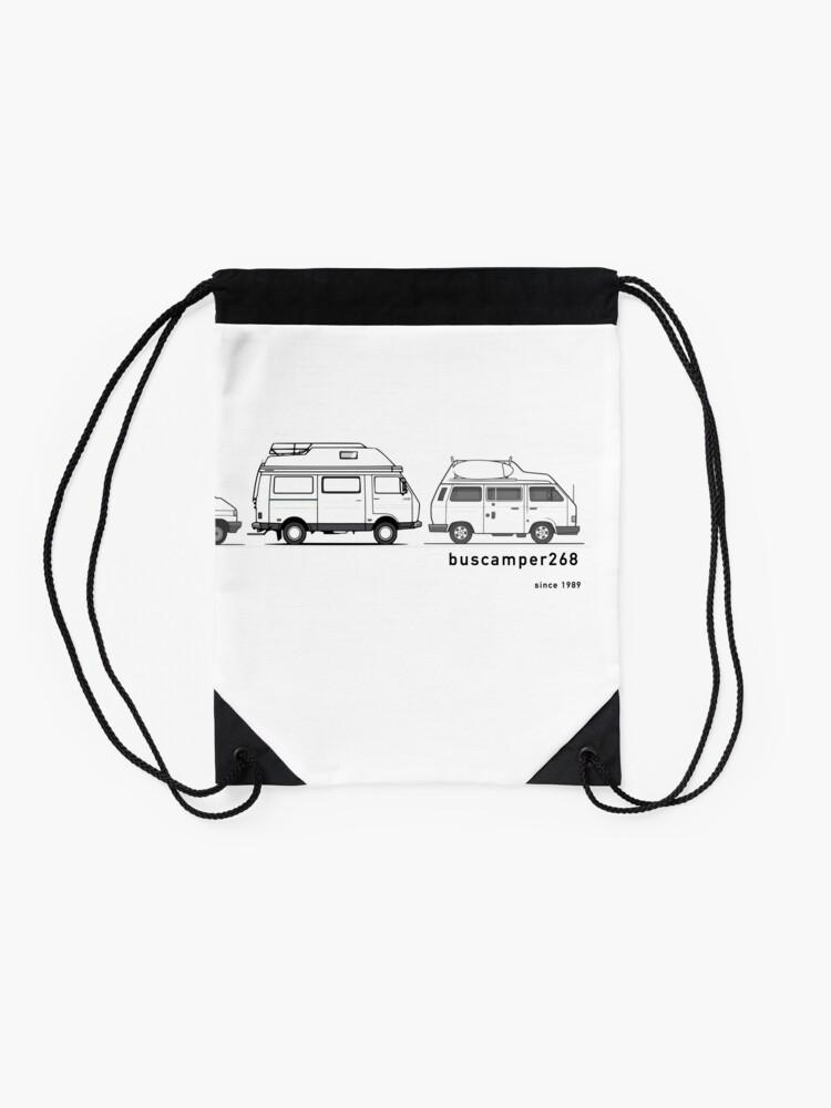 Alternate view of Hightop Campervans II - buscamper268 Drawstring Bag