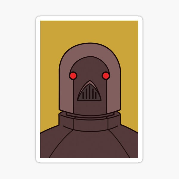 Robot Overlord Sticker