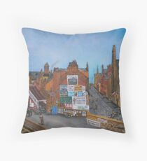 Old Port Glasgow, Train Station Throw Pillow