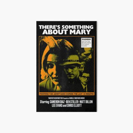 THERE'S SOMETHING ABOUT MARY 1997 (THRILLER) Art Board Print