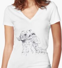 Luke on Hoth art Women's Fitted V-Neck T-Shirt