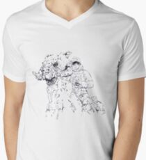 Luke on Hoth art Men's V-Neck T-Shirt