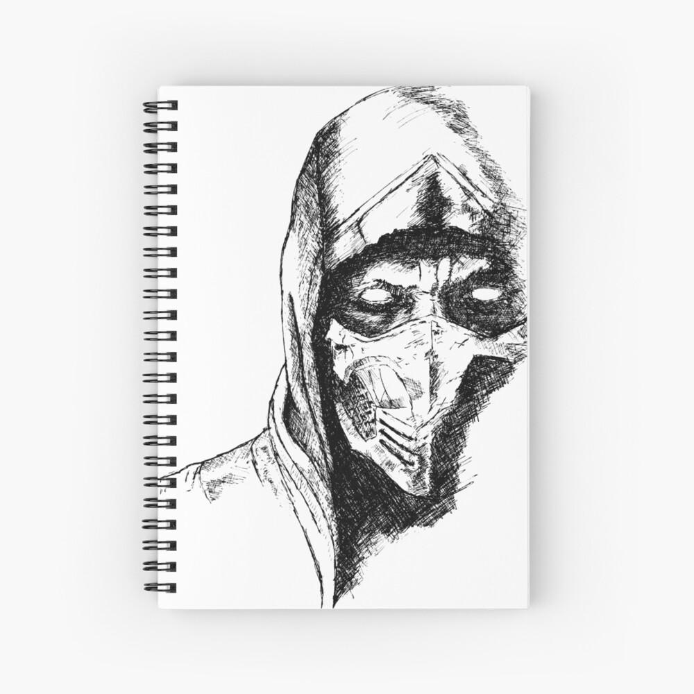 Scorpion Mortal Kombat X Spiral Notebook By Blackcross Redbubble