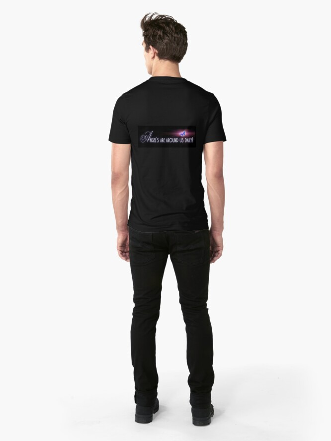 Alternate view of Angel's are around us daily Slim Fit T-Shirt