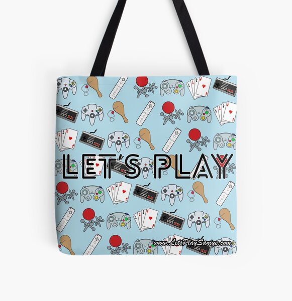 Let's Play Tote Bag All Over Print Tote Bag