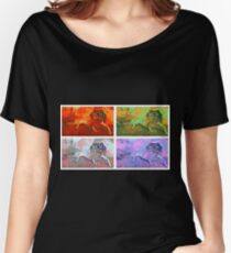 Funky pop art leopard gecko Women's Relaxed Fit T-Shirt