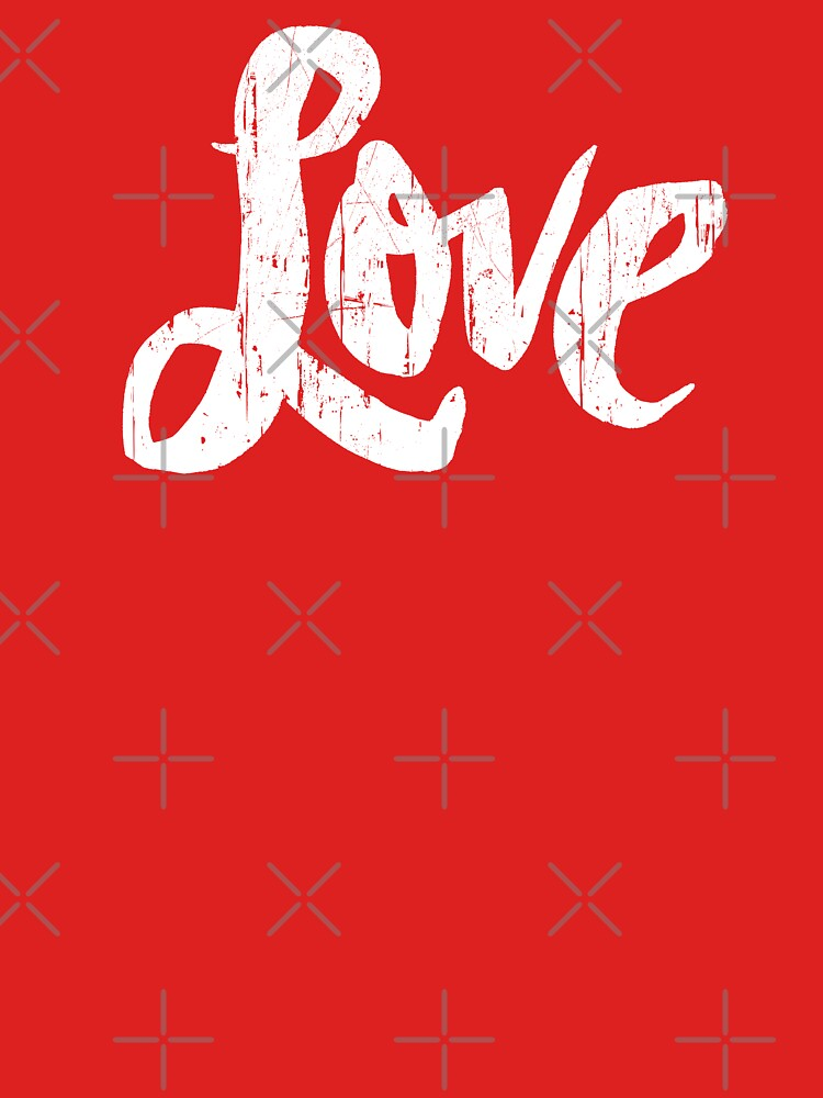 Hippie Love Lettering - Modern Distressed Calligraphy for Valentine - Red White by 26-Characters