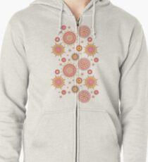 Flower Mandalas Zipped Hoodie