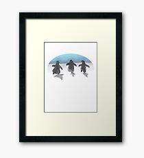 Baby Penguin Trio Framed Print